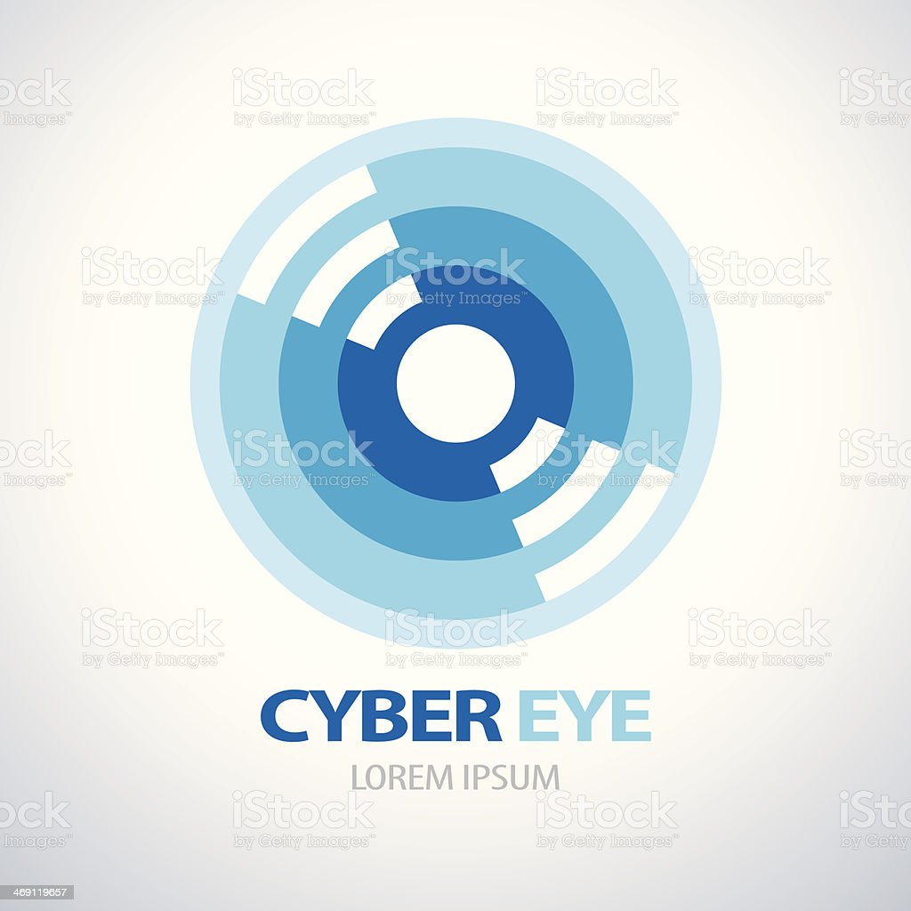 CYBER EYE ICON vector art illustration