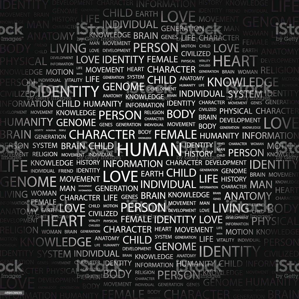 HUMAN. royalty-free stock vector art