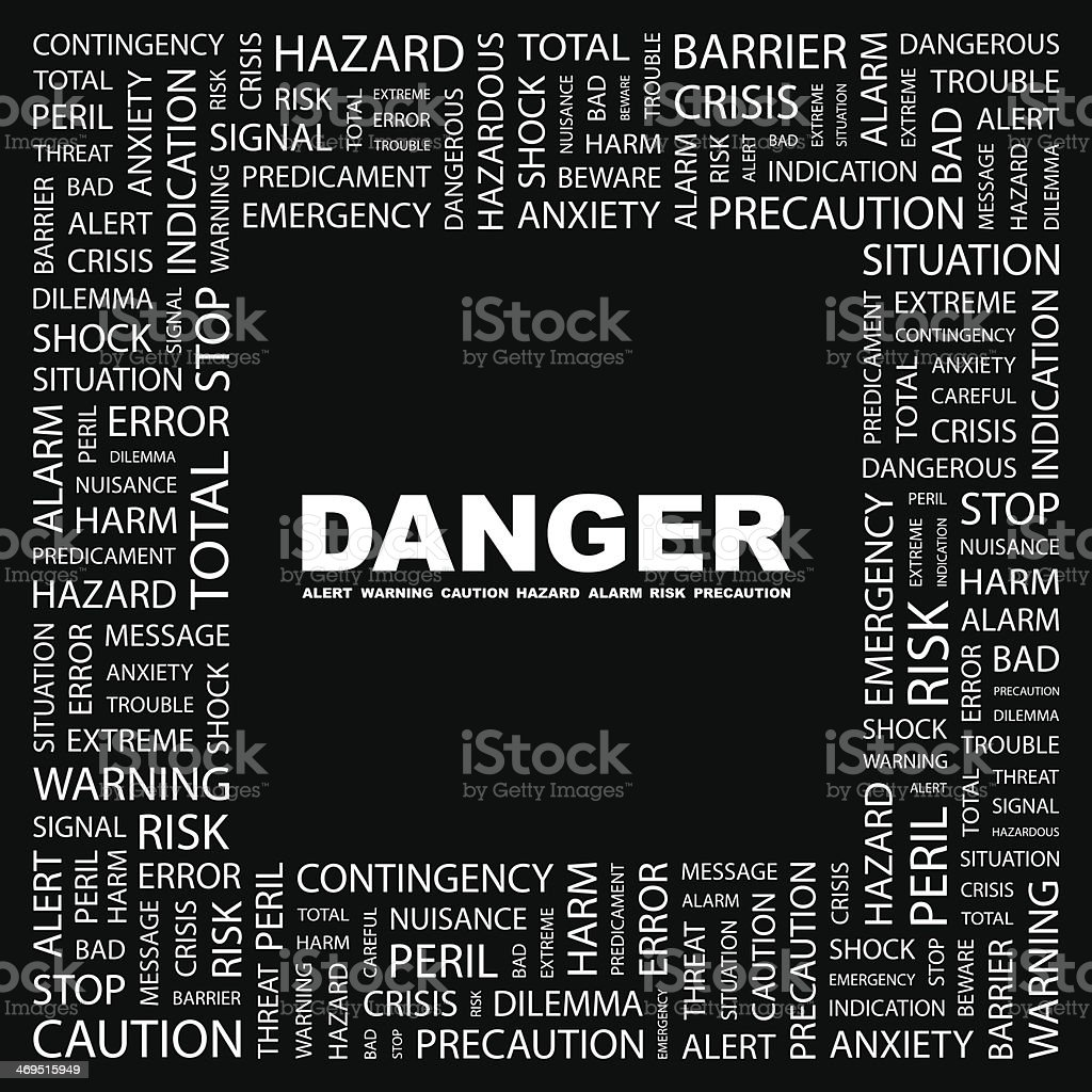DANGER. royalty-free stock vector art