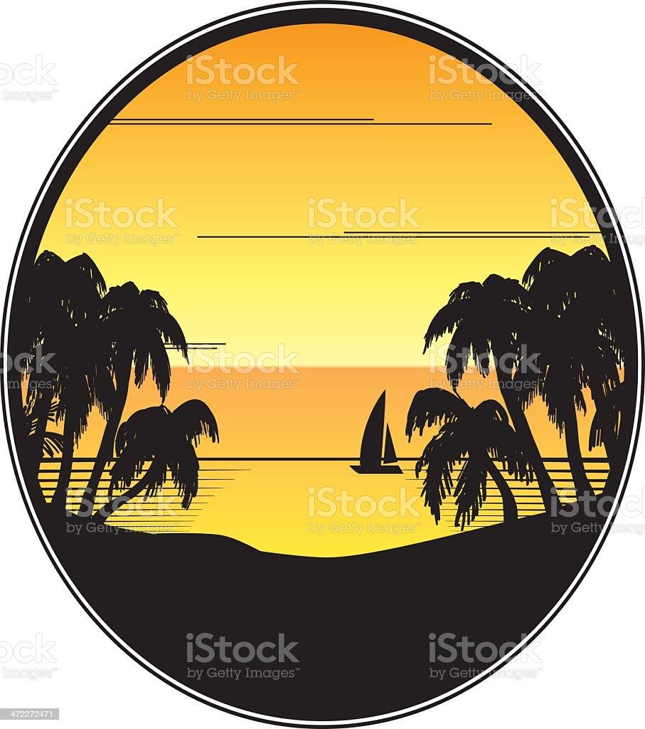 SUMMER PALMS royalty-free stock vector art