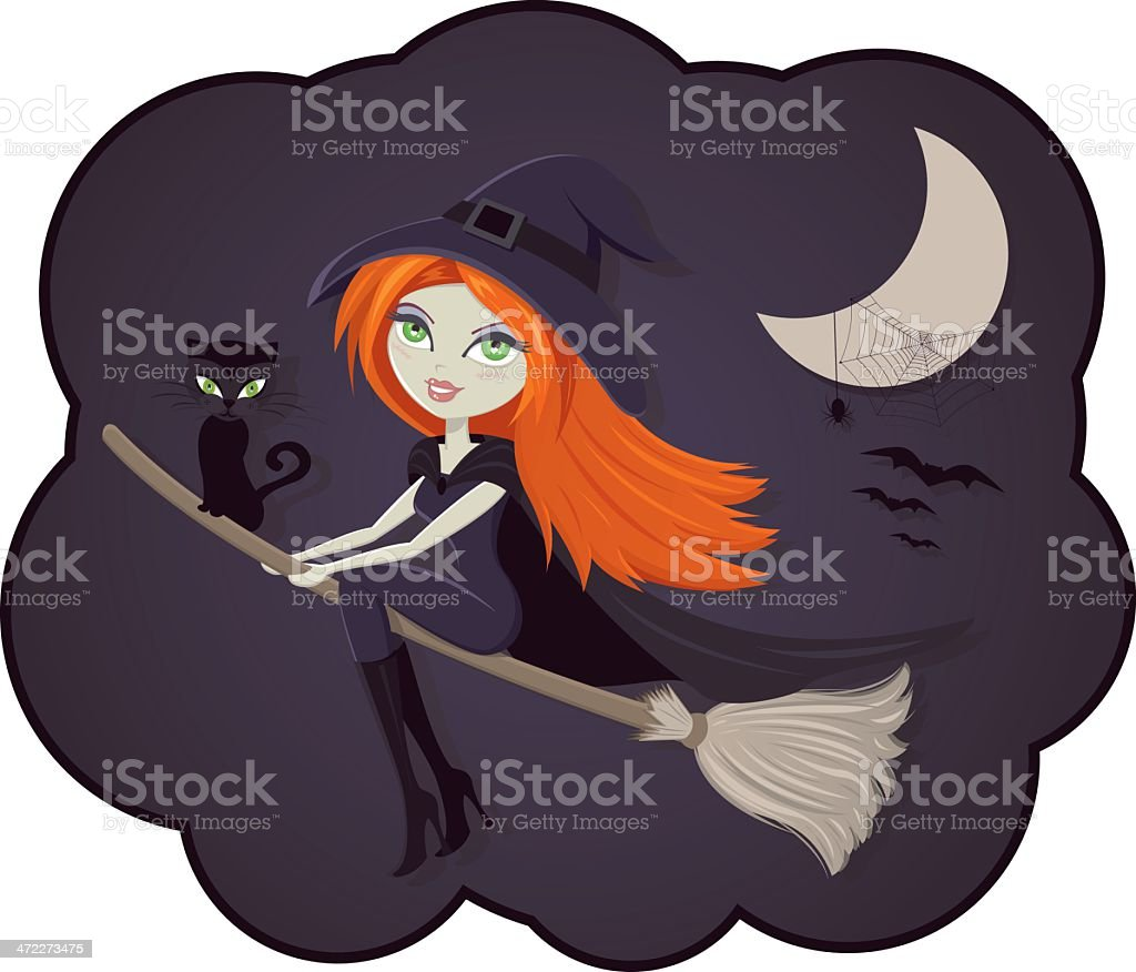 WITCH royalty-free stock vector art