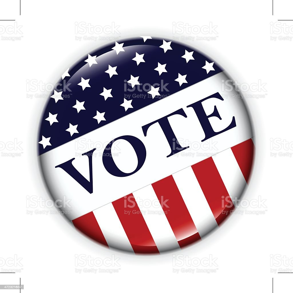 USA VOTE BADGE vector art illustration