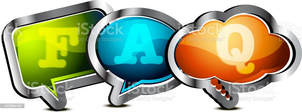 FAQ royalty-free stock vector art
