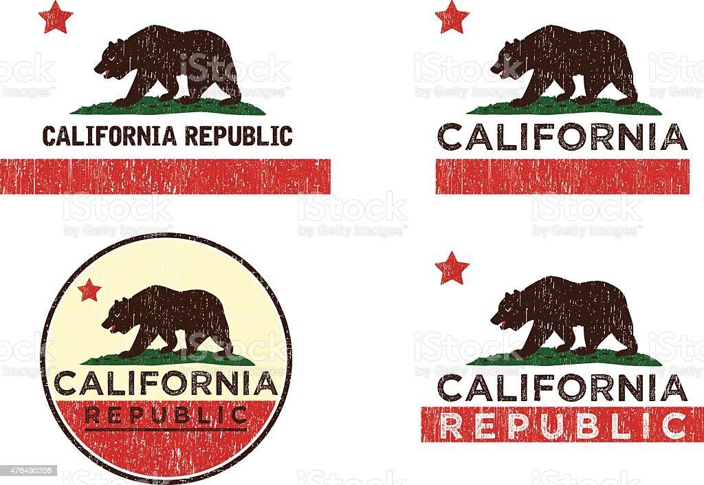 CALIFORNIA EMBLEM vector art illustration