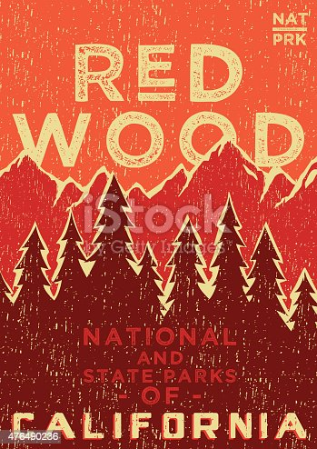 istock RED WOOD POSTER 476490236