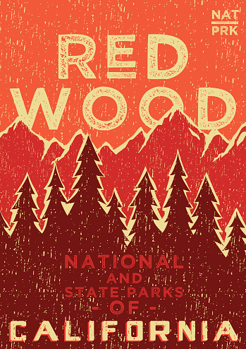 Vinate poster of The Red Wood National Park