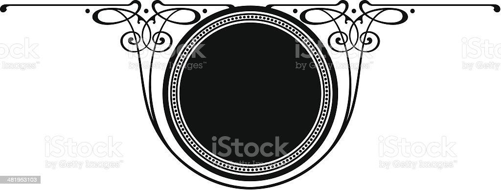 CIRCLE- SCROLL PANEL royalty-free stock vector art