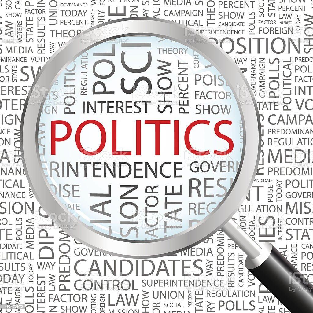 POLITICS. vector art illustration