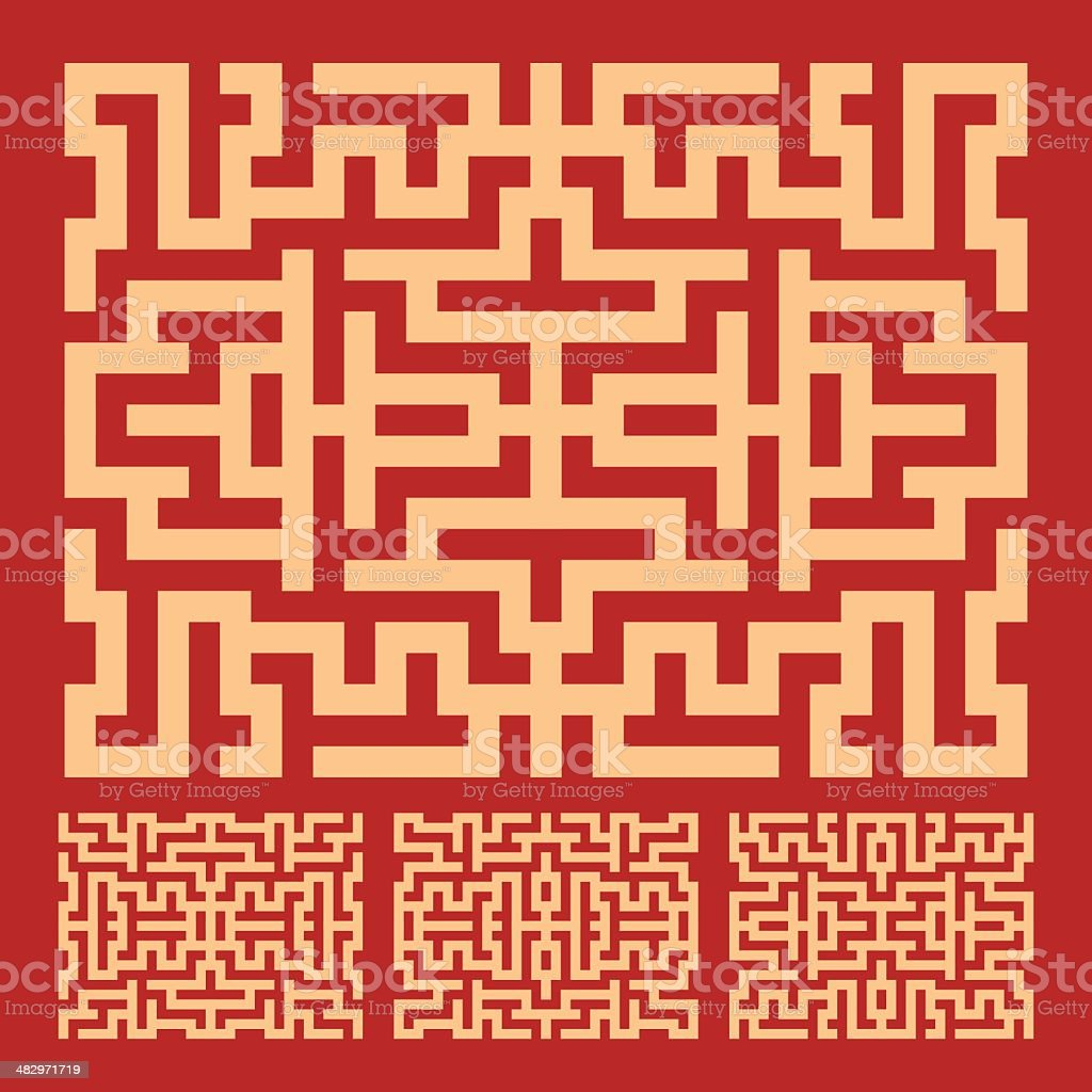 RED LABYRINTH PATTERN royalty-free red labyrinth pattern stock vector art & more images of abstract