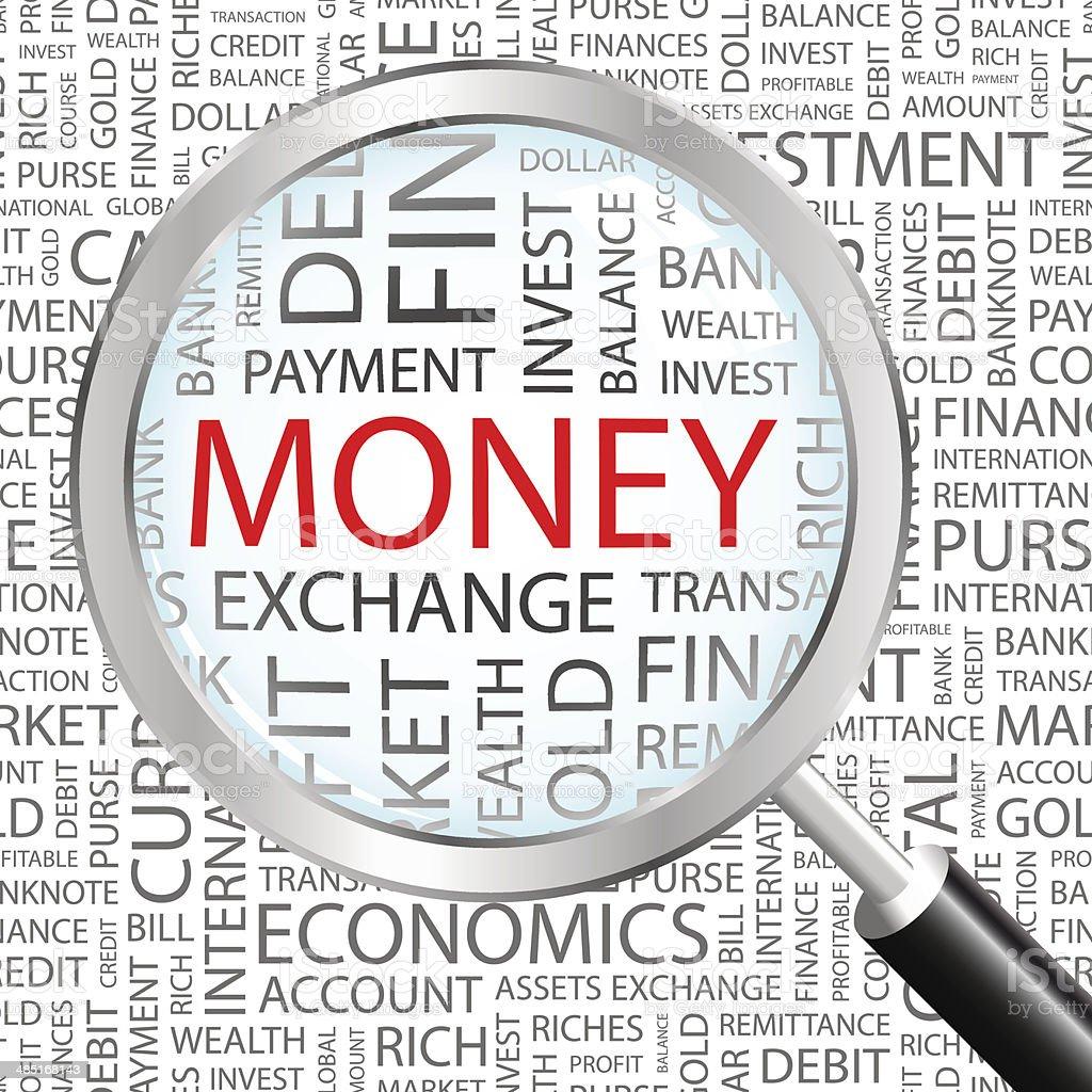 MONEY. vector art illustration