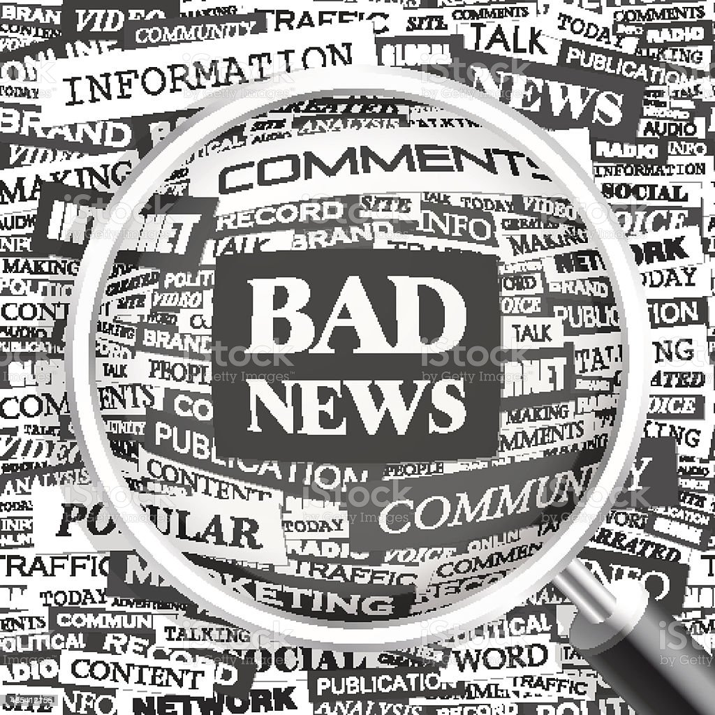 BAD NEWS. royalty-free bad news stock vector art & more images of abstract