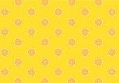Orange pattern on yellow background