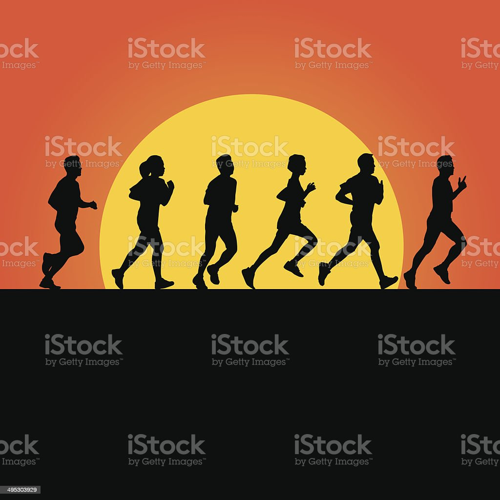 RUNNING VECTOR royalty-free running vector stock vector art & more images of activity