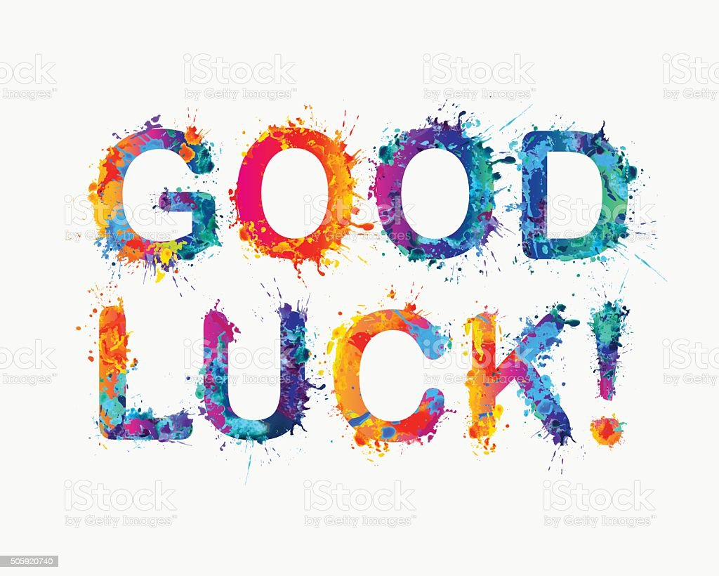 GOOD LUCK! vector art illustration