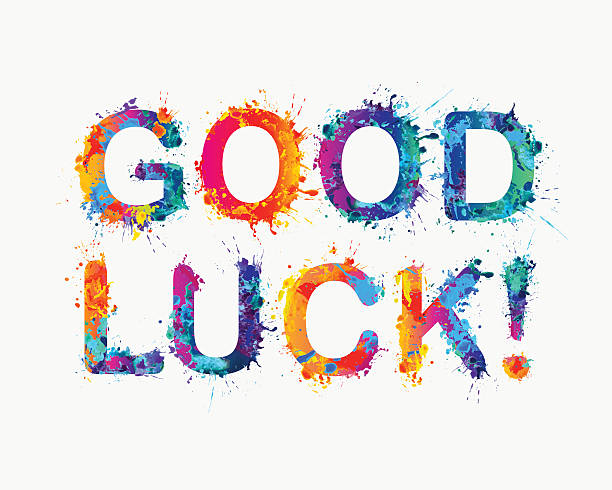 good luck! - good bye stock illustrations, clip art, cartoons, & icons