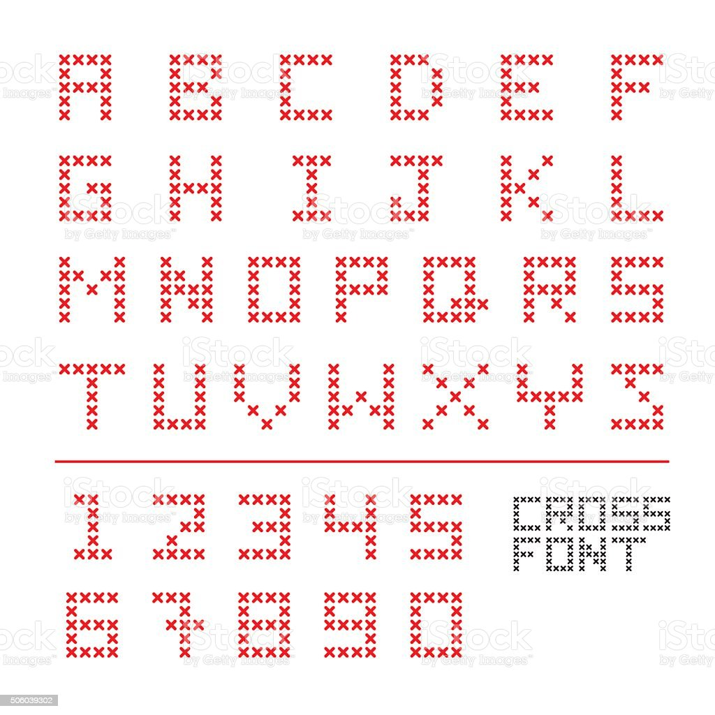 Cross Font Stock Vector Art & More Images of Colors 506039302 | iStock