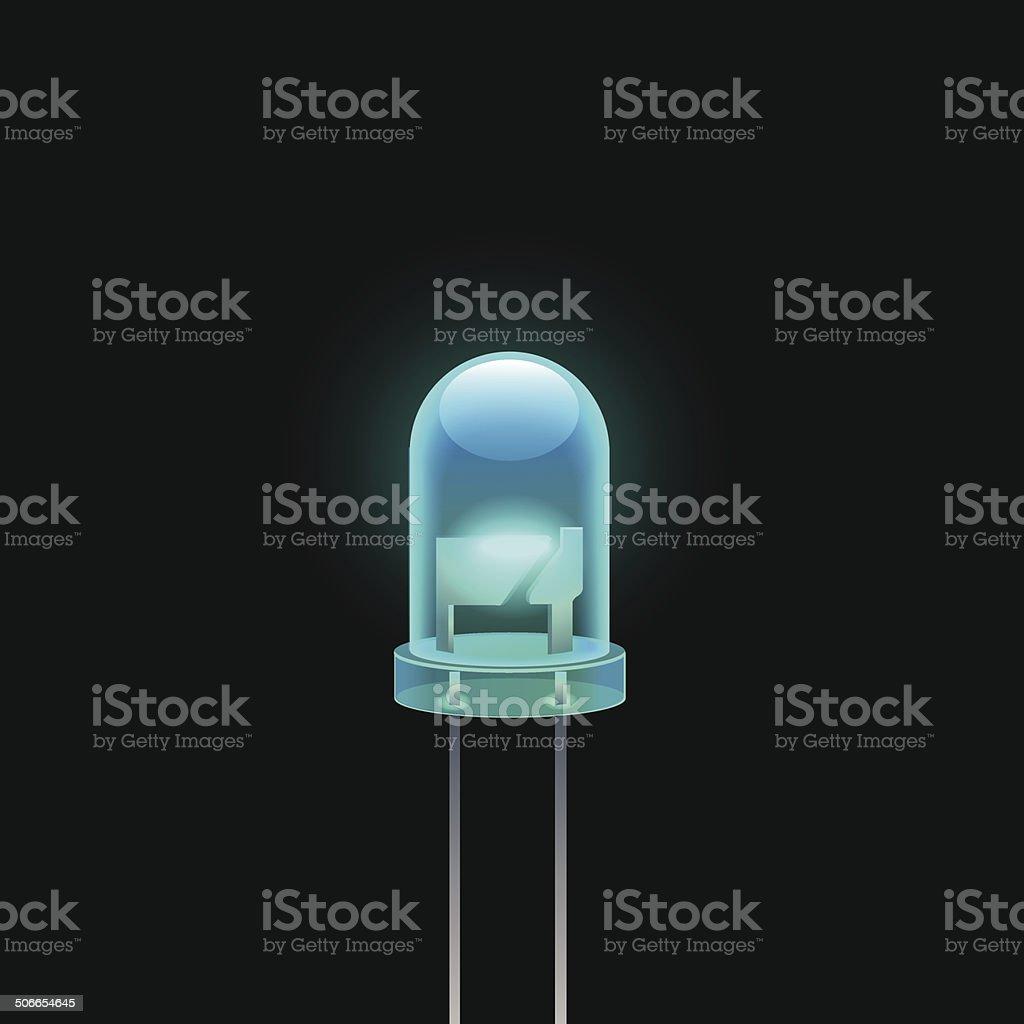 LED vector art illustration