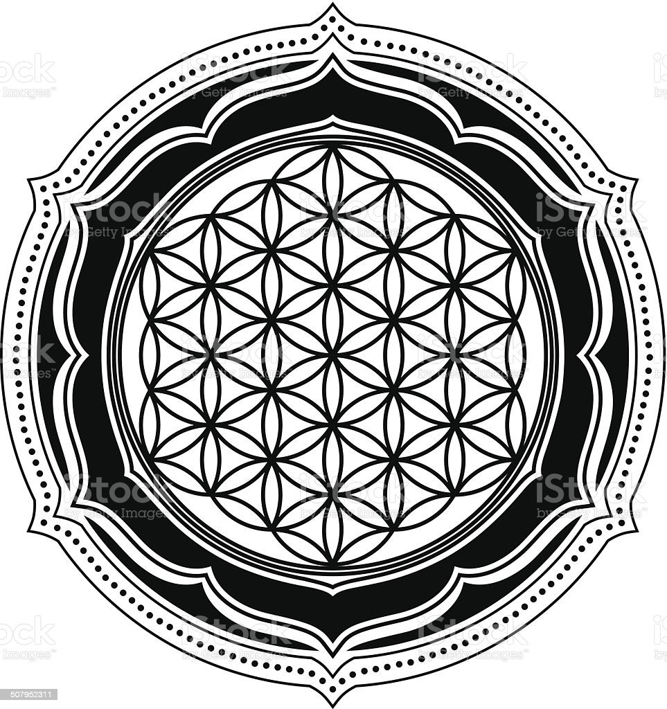 Flower Of Life Lotus Sacred Geometry Stock Vector Art More Images