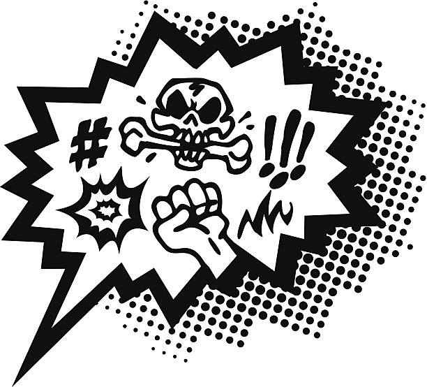 stockillustraties, clipart, cartoons en iconen met curses, comic book style, speech bubble - swearing