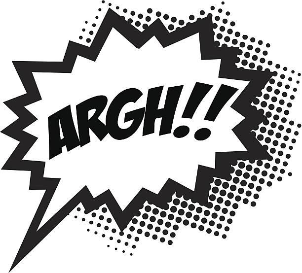 ARGH!, COMIC BOOK STYLE, SPEECH BUBBLE vector art illustration