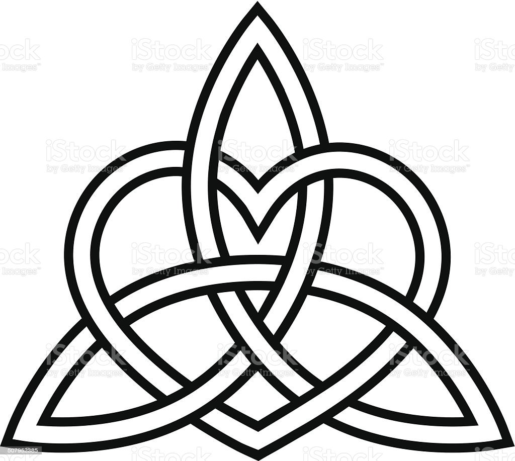 Heart Triquetra Celtic Knot Stock Illustration - Download ...