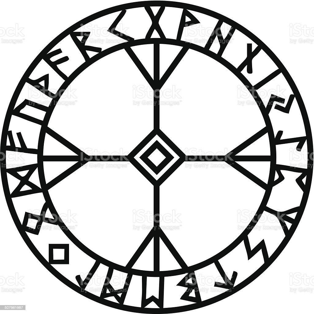 Algiz Elhaz Rune Futhark Protection Symbol Stock Vector Art More