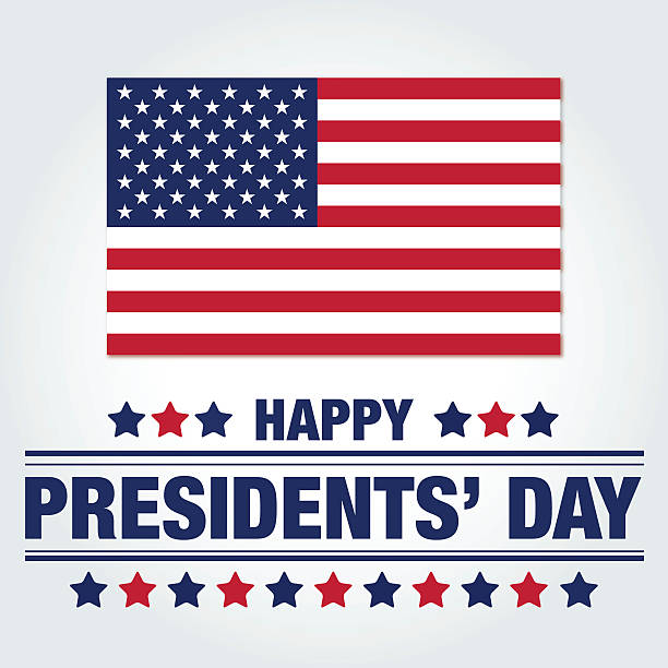 happy presidents' day - presidents day stock illustrations, clip art, cartoons, & icons