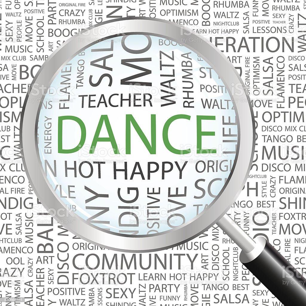 DANCE. vector art illustration