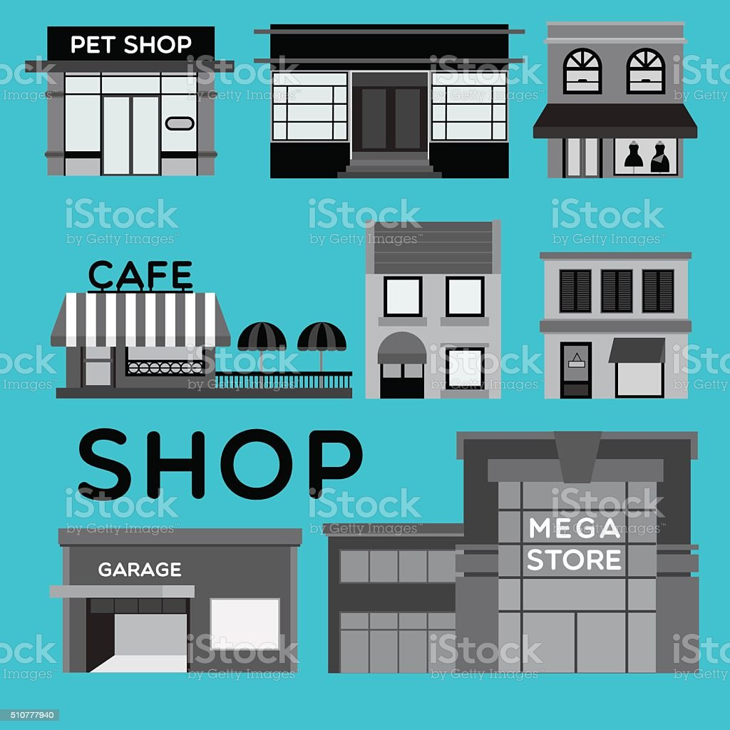 SHOP vector art illustration