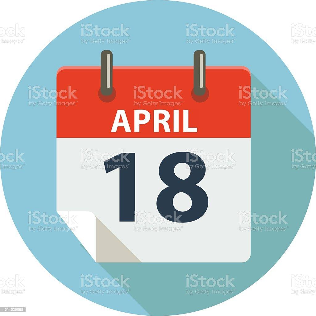 APRIL 18 - TAX DAY vector art illustration