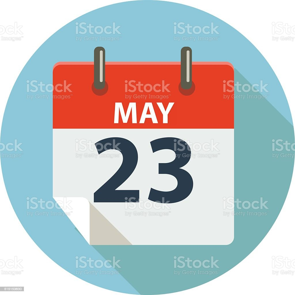 MAY 23 vector art illustration