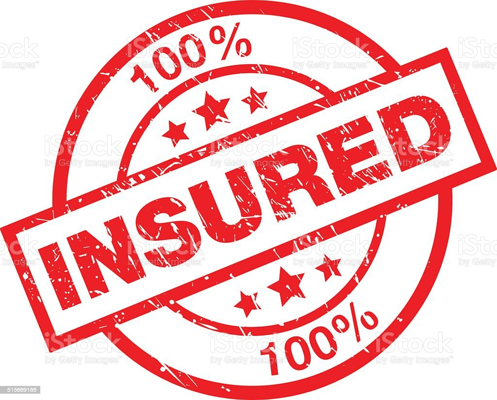 Insured Check Mark Seal Illustration Stock Illustration