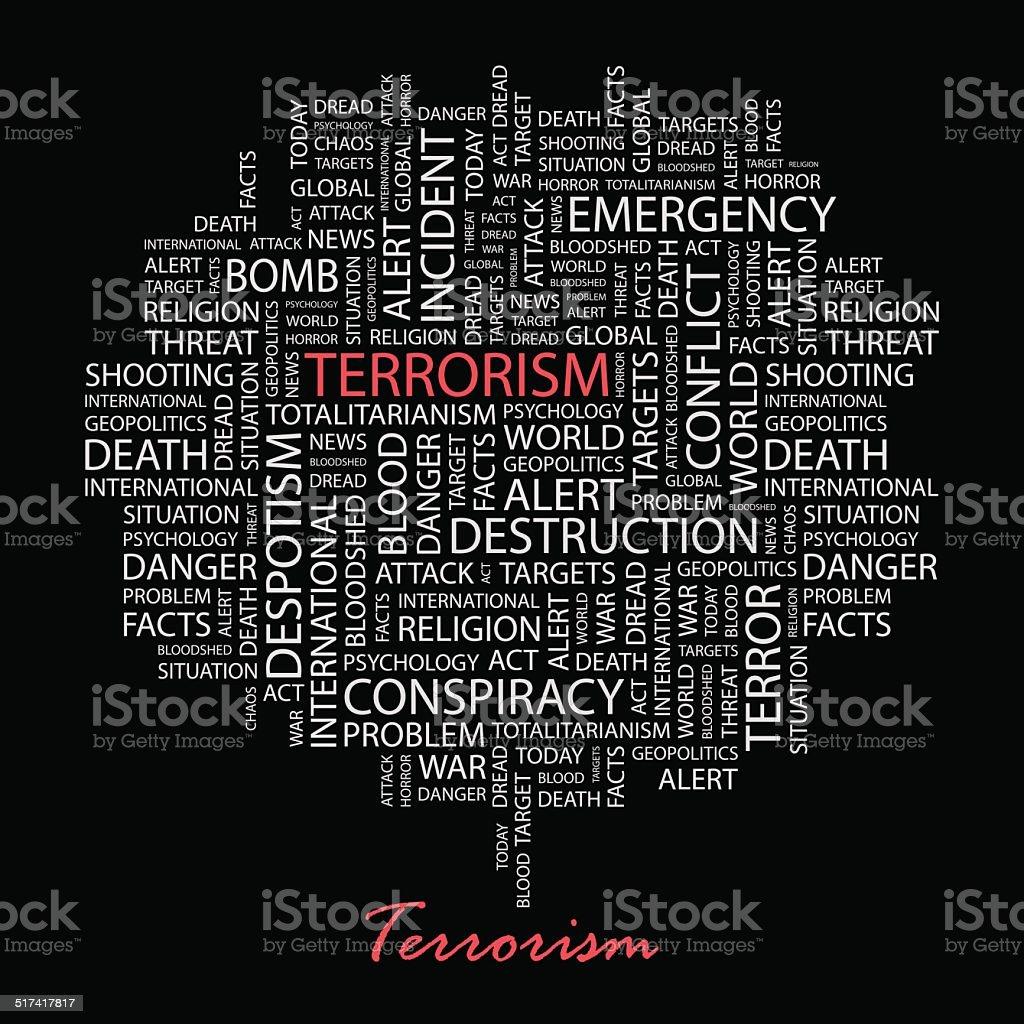TERRORISM. vector art illustration