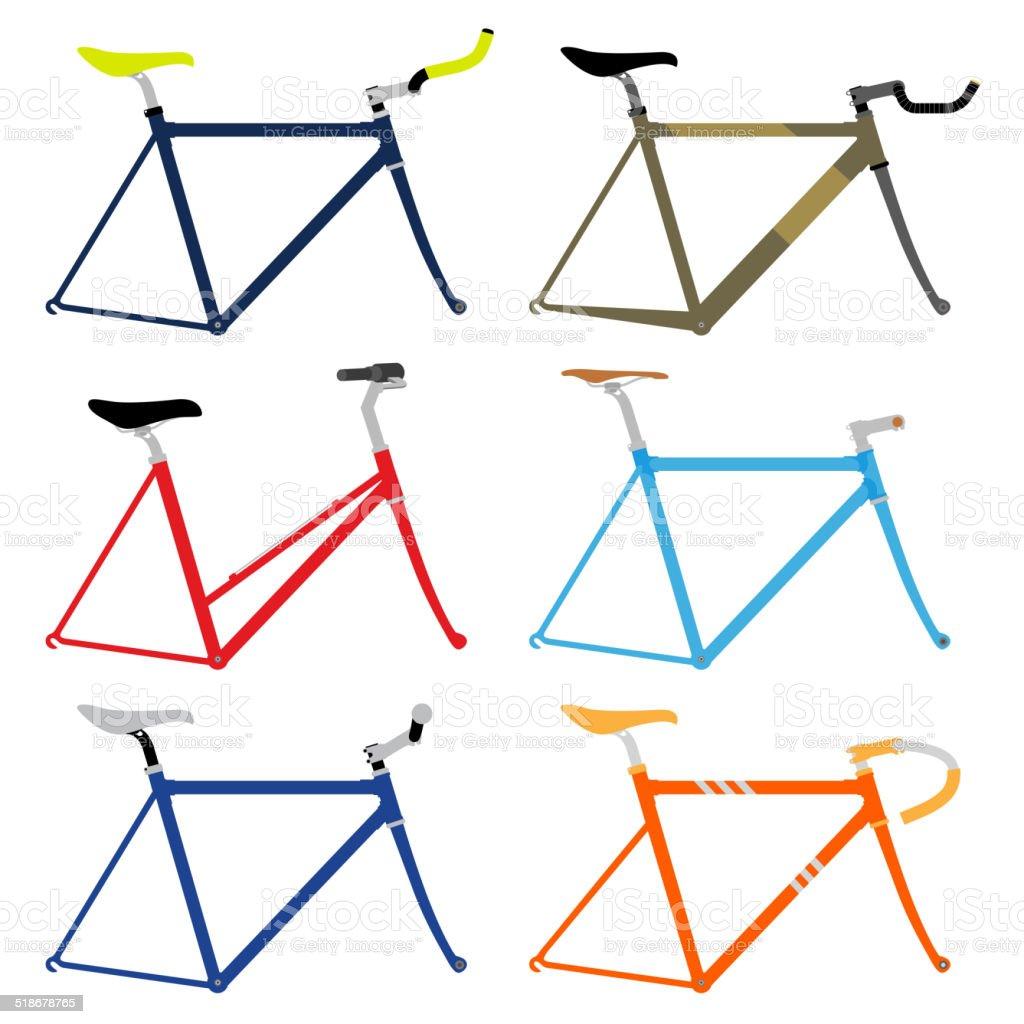 Fahrradrahmen Stock Vektor Art und mehr Bilder von Alt 518678765 ...