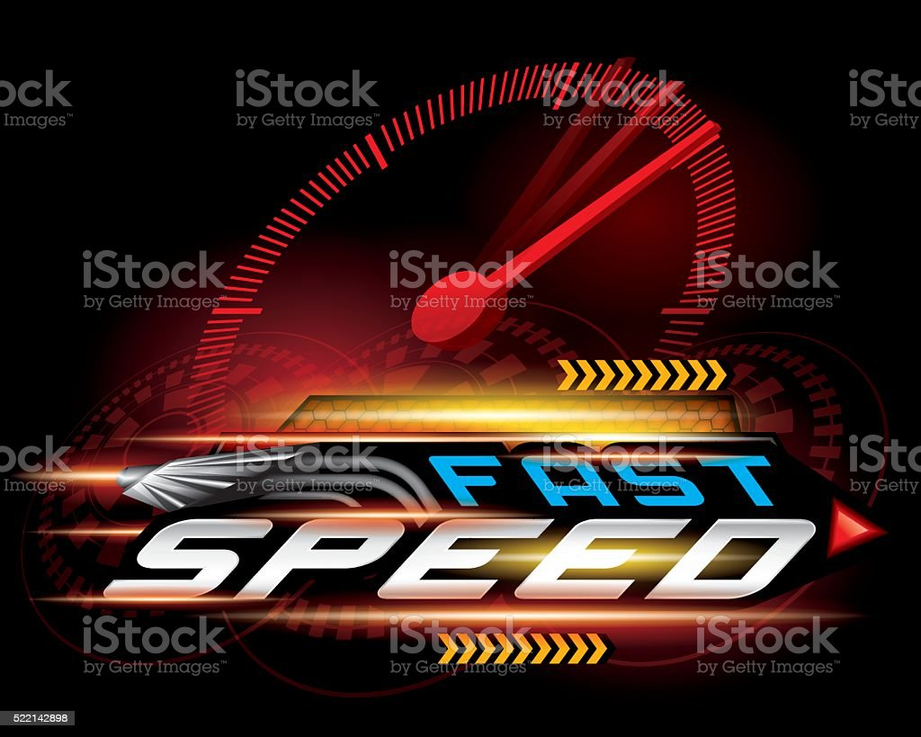 FAST SPEED CONCEPT VECTOR vector art illustration