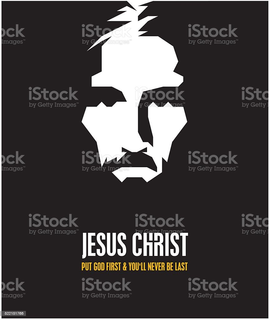 JESUS CHRIST vector art illustration