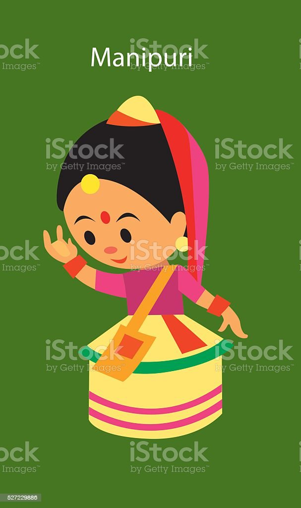 Indian Classical Dance Manipuri Stock Illustration Download Image Now Istock