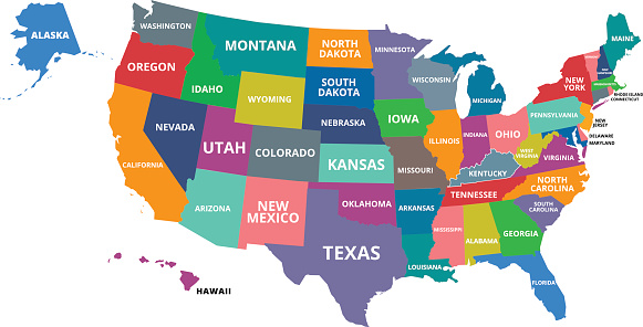 The USA map was traced and simplified in Adobe Illustrator on 5 JULY 2013 from a copyright-free resource below: