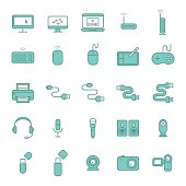 Computers and computer icon set.