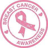pink ribbon badge