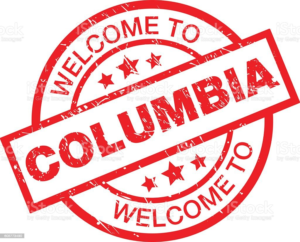 WELCOME TO COLUMBIA vector art illustration