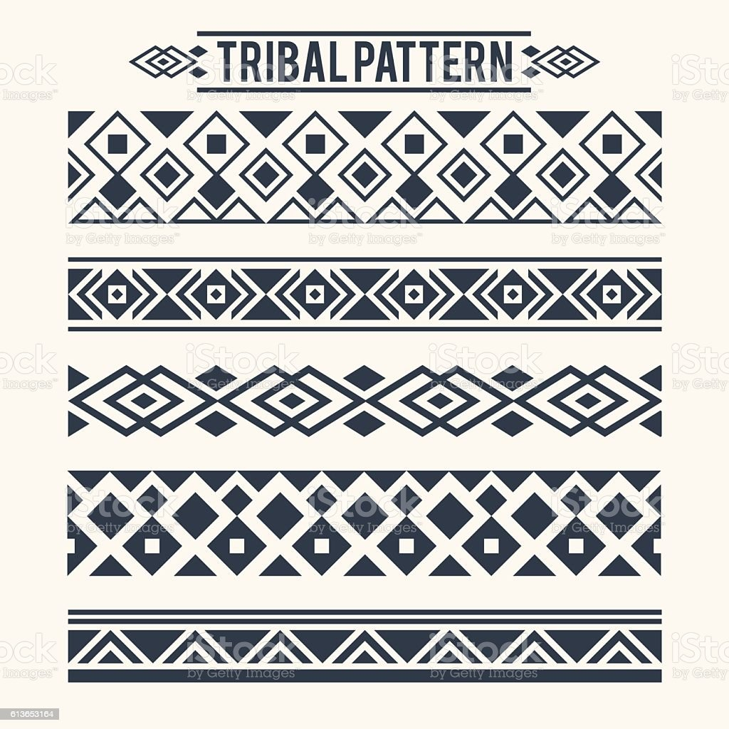 ETHNIC TRIBAL PATTERN vector art illustration