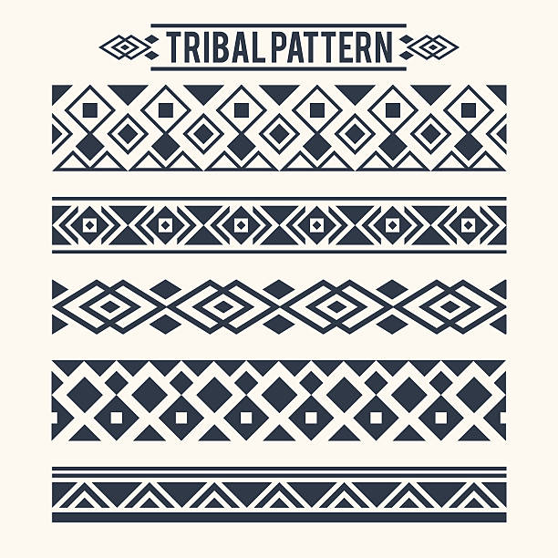 ETHNIC TRIBAL PATTERN Ethnic Tribal Pattern Decoration indigenous culture stock illustrations