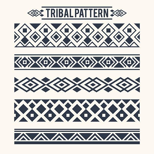 stockillustraties, clipart, cartoons en iconen met ethnic tribal pattern - tribale kunst