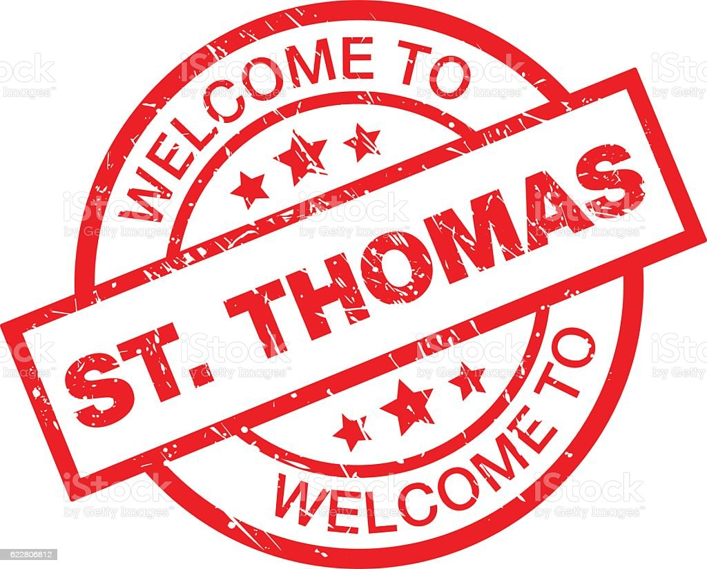 WELCOME TO ST THOMAS vector art illustration