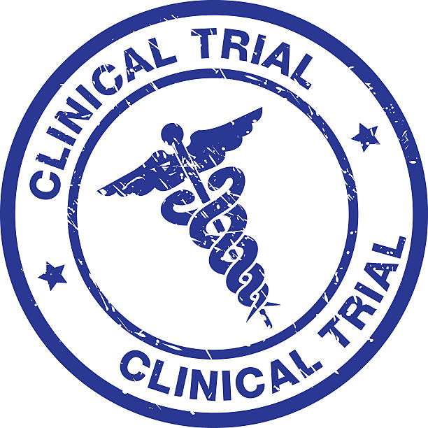 CLINICAL TRIAL vector art illustration