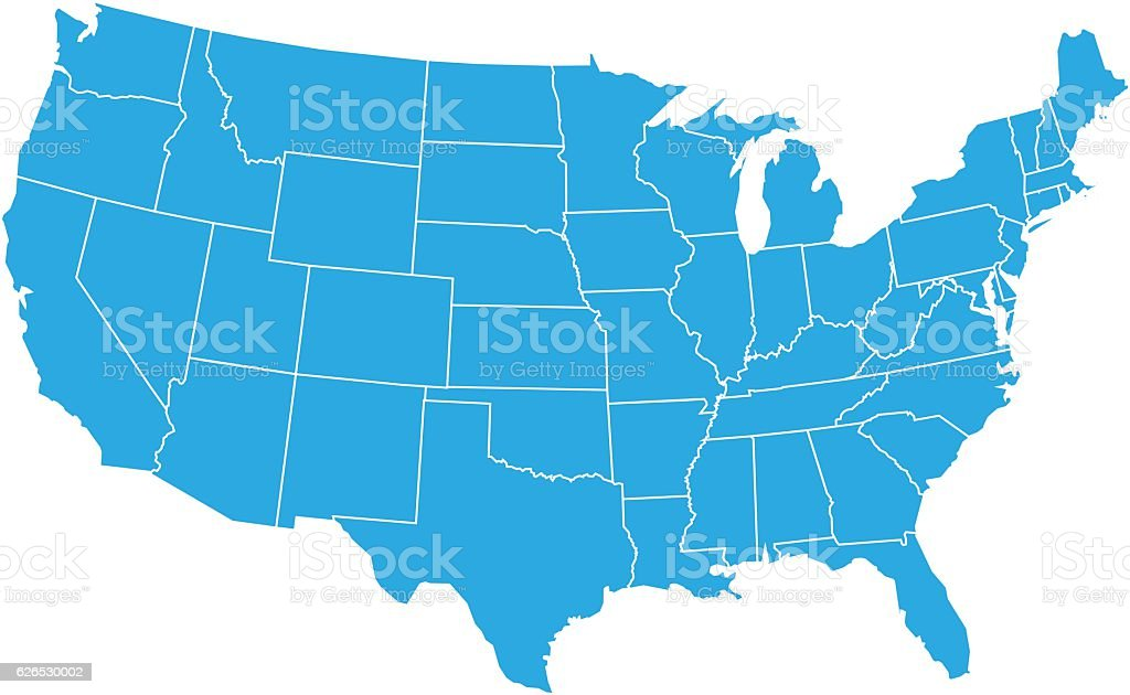 USA MAP vector art illustration