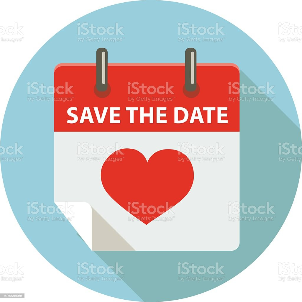 Royalty Free Save The Date With Calendar Clip Art Vector Images