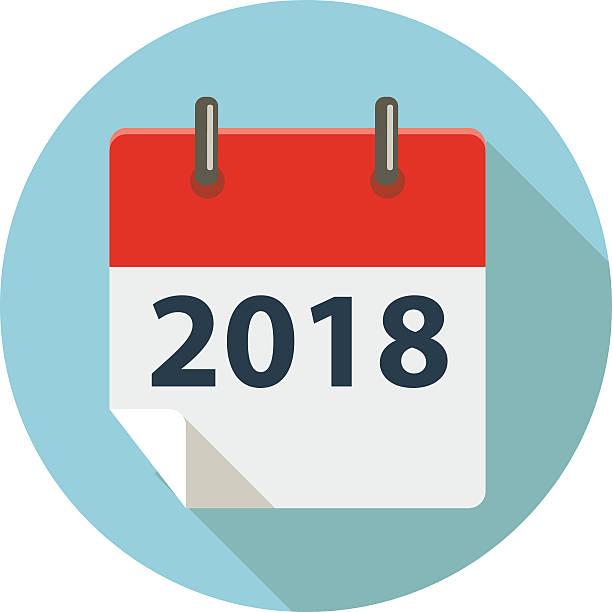 stockillustraties, clipart, cartoons en iconen met 2018 - 2018
