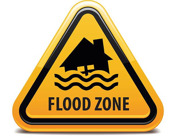 bildbanksillustrationer, clip art samt tecknat material och ikoner med flood zone - tidszon
